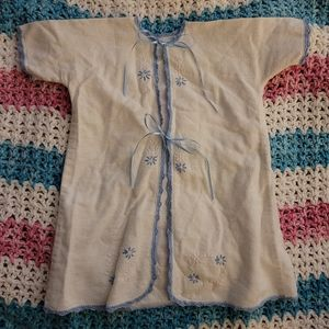 vintage white and blue cotton sleeper